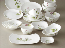 high quality opal ware square dinner set