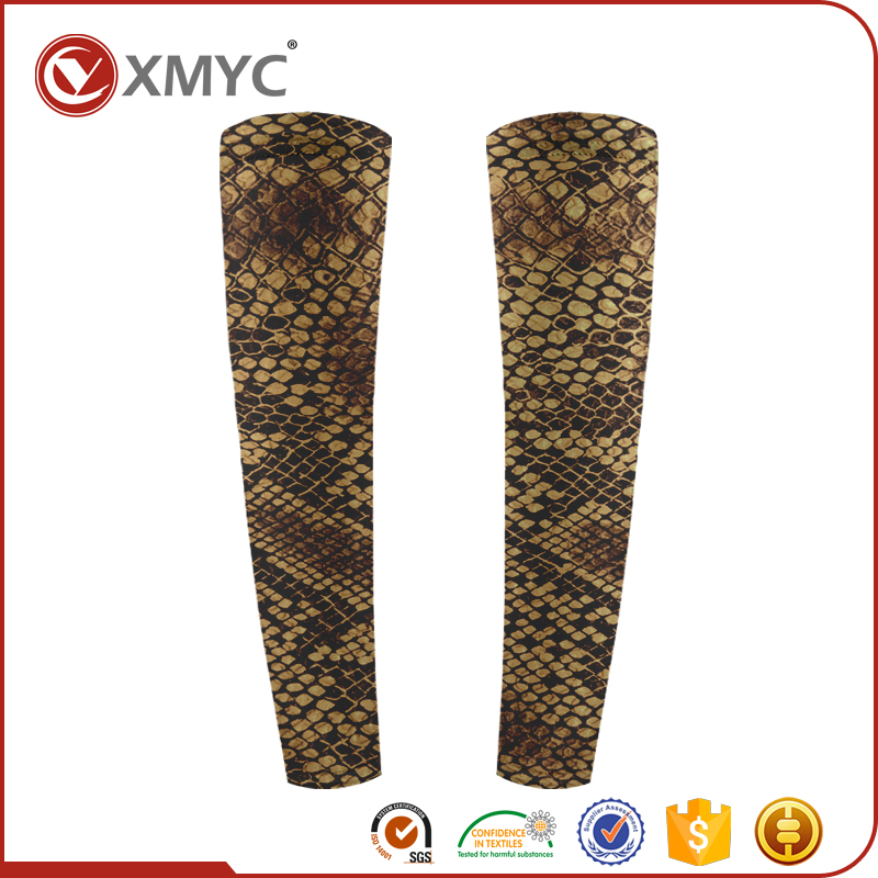Small Qty OEM Service Custom Snake Scales Pattern Sublimation Print Arm Sleeves for <strong>Cycling</strong>