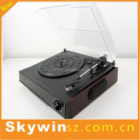 Hot Selling Turntable USB/CD Record Cassette Player with Plastic Dust Cover