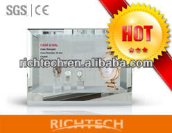RichTech 22 inch three side video/touch transparent flexible lcd display for exhibition and advertising
