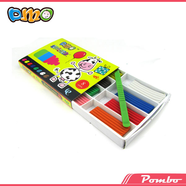 8 color DIY non-drying educational rubber modeling clay set