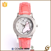 fashion stainless steel case back lady watch