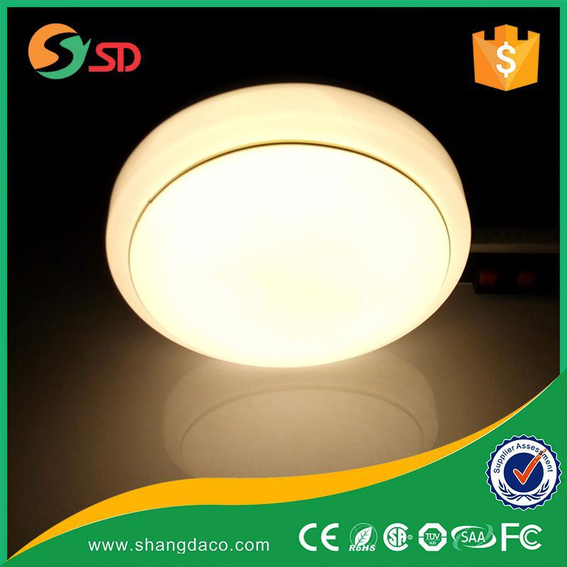SHANGDA Professional dimmable White Super Bright 12w indoor motion sensor ceiling light