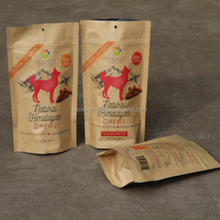 new design plastic animal feed packaging bag/resealable stand up pouches with zipper/animals food bag