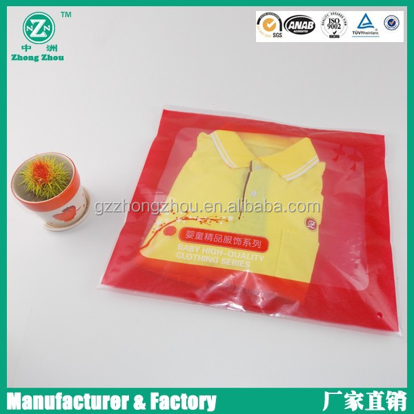 Clothing frosted material plastic zip lock bag and garment zip lock bag