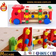 Wooden Building Kit Truck Set Toys Educational Toy Vehicle For Kids