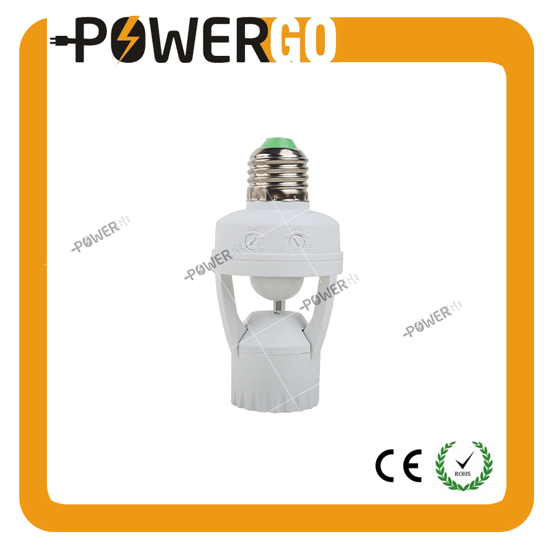 Infrared Motion Light Sensor Socket PIR Automatic LED Lights Switches E26/E27 Lamp Holder Screw Bulb Socket LD120