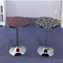 Promotion perfect living room modern high gloss round onyx marble coffee table