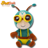 Cute plush stuffed Sitting Cartoon Ant Character soft Toy