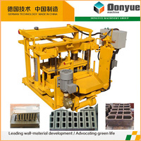 QT40-3A Concrete mobile hollow cement block making machine price for sale