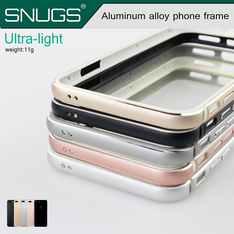 Aluminum Bumper + Soft Silicone Cover For iPhone 7 /7 plus Luxury Metal Case