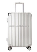 Customize 3 Pcs Luggage Travel Set Bag ABS+PC Wheeled Trolley Suitcase w/Code Lock Silver