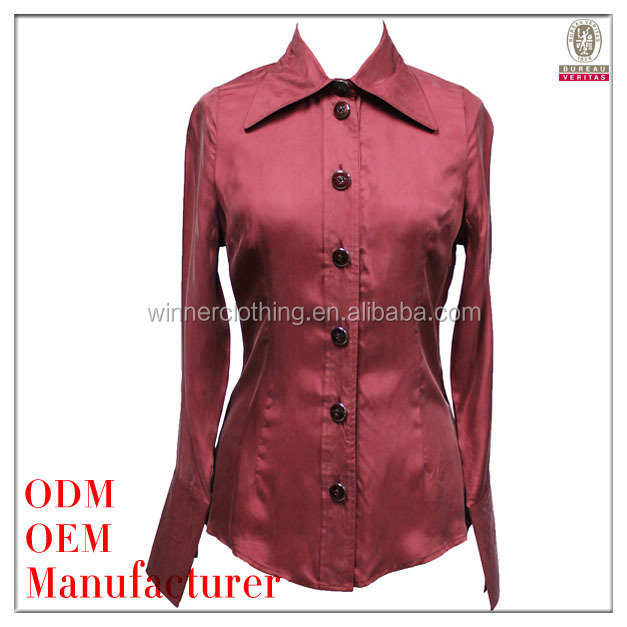 Women high quality 100%cupro spring fashion 2014 ladies tops latest design