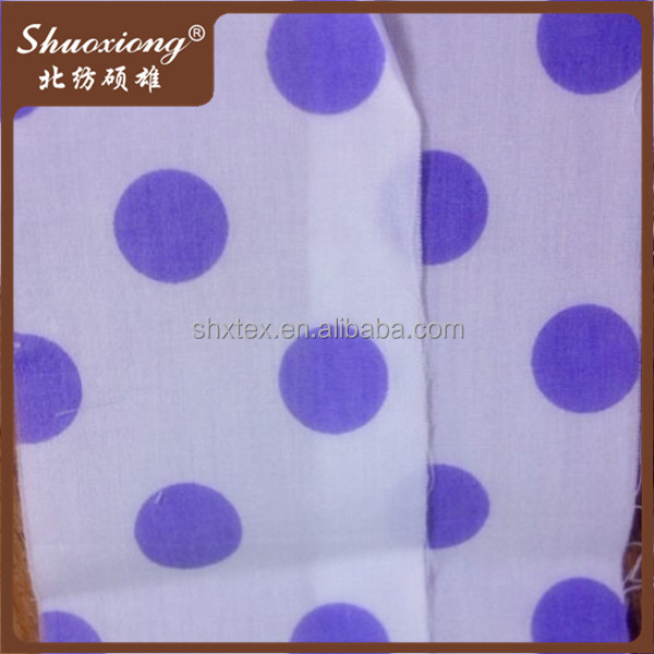 100% cotton polka dot fabric for baby crib bedding set
