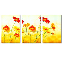 Group Flower Canvas Wall Art/Home Decors Paintings/Bright Flower Oil Painting
