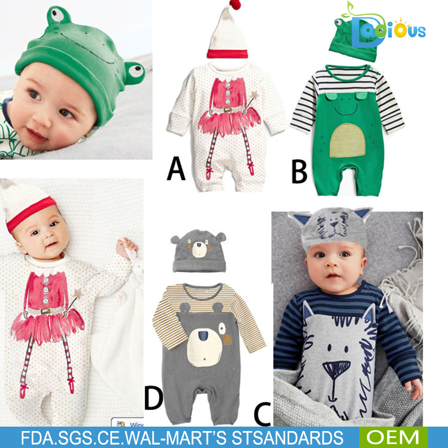 Wholesale Baby Boy and Girls Clothes Set Cotton Spring Newborn Baby Clothes