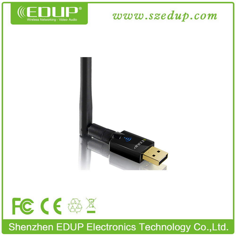 600Mbps 802.11ac Dual Band 2.4Ghz / 5Ghz USB Wifi Adapter With External 2dbi Antenna
