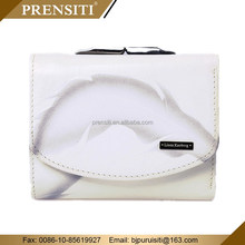 white woven leather wallet coin purse for men women