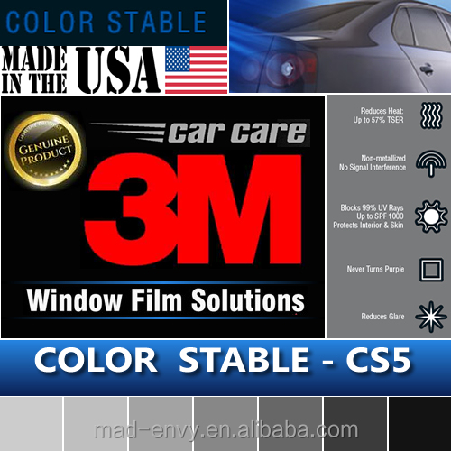 Genuine 1.52x30m CS5 Color Stable 5% VLT Automotive Car Truck Roll 3M Solar Window Tint Film