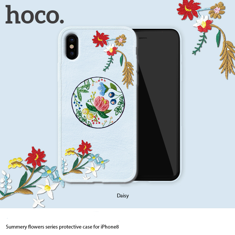 HOCO fashionable flowers series protective TPU+PC+PU case for iPhoneX