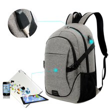 wholesale laptop backpack with laptop compartment and usb charger for traveling , sports and school