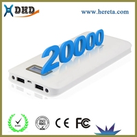 small size 5v power supply battery backup 20000mah power bank