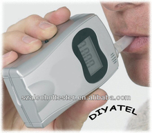 Replaceable Mouthpiece Digital Acohol Detector With Advanced Hot-wire Alcohol Sensor/Breathalyzer Analyzer/Alibaba Express AT570