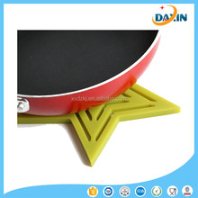 Star-shaped silicone kitchen heat-resistant non-slip mat/table /cup mat