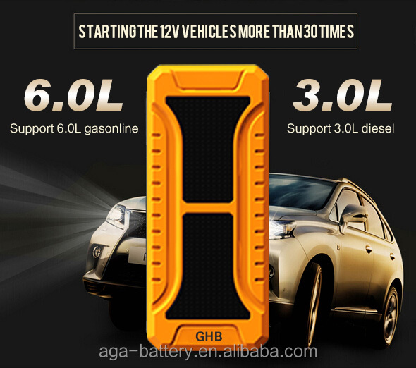 GHB A13 Mini Portable Powerful 20000mAh Car vehicle Jump Starter 12v car battery charger