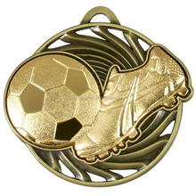2015 new design of custom gold plating football medals trophy for souvenir