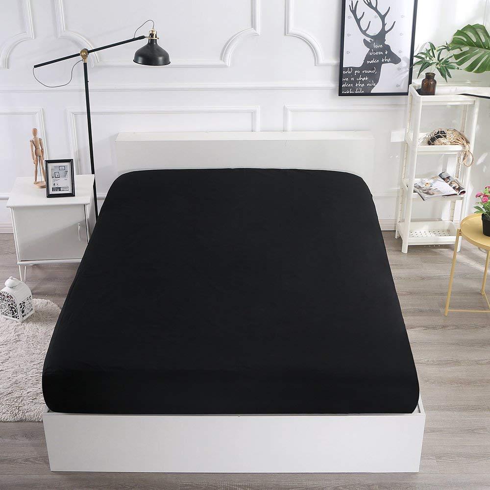 Hotel color hypoallergenic waterproof black mattress protector - Jozy Mattress   Jozy.net