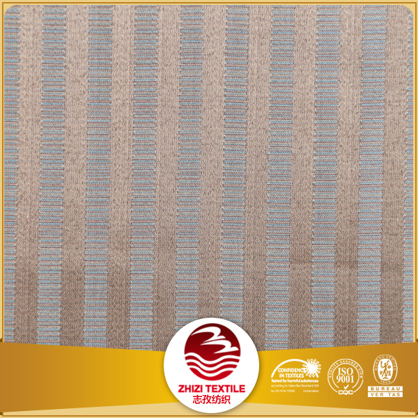 Best selling jacquard striped design 100% polyester shower curtain fabric