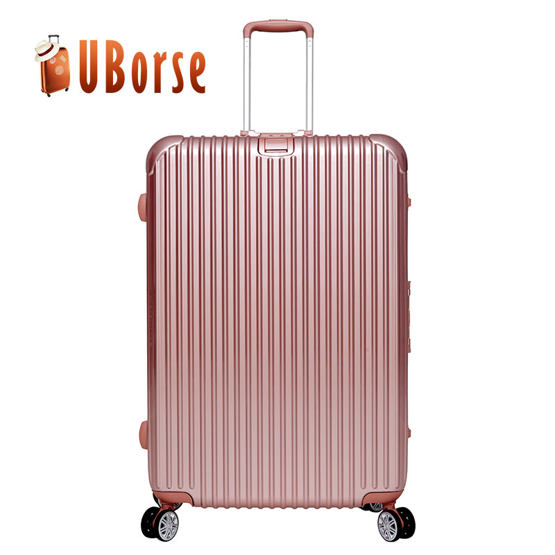 Rose Gold Aluminum Frame Luggage Case / Scooter Suitcase / Trolley Luggage