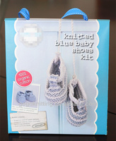 Knitting and crochet BABY shoes diy kit