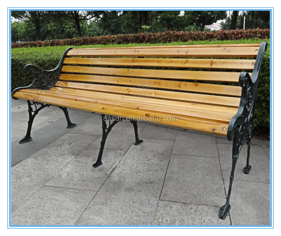 Water Proof Pine Wood Cheap Cast Iron Outdoor Long Wood Park Bench Chair Buy Long Wood Park