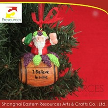 Poly Santa Claus Decoration for Christmas Tree