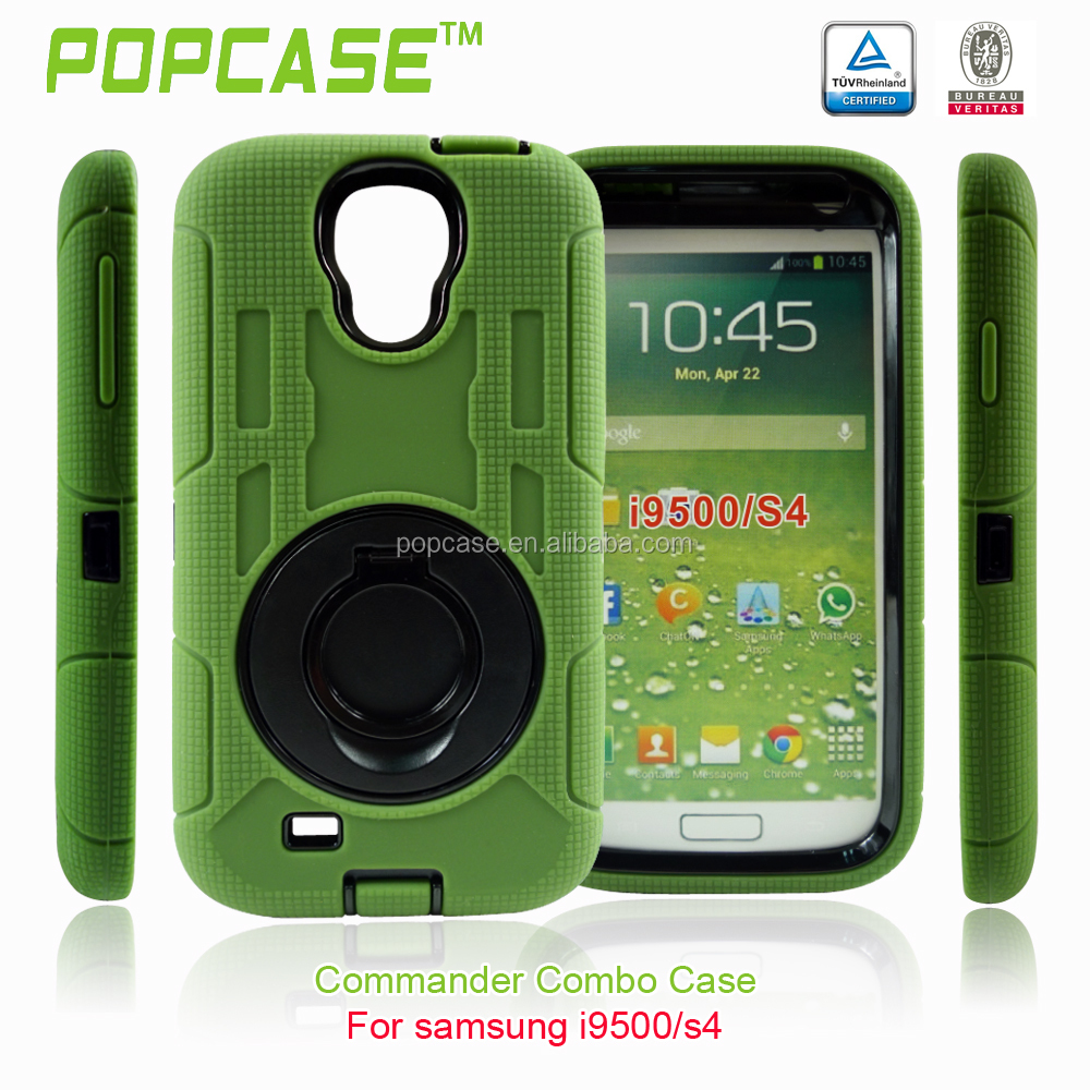 free sample shockproof pc and silicone phone case for Samsung S4