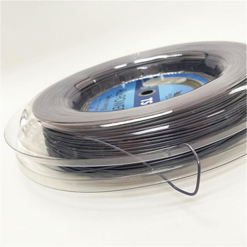 Raquete De Tênis Cordas 660FT Para Big Banger Alu Poder Co-Poliéster 17L/1.25 MM Cor Cinza