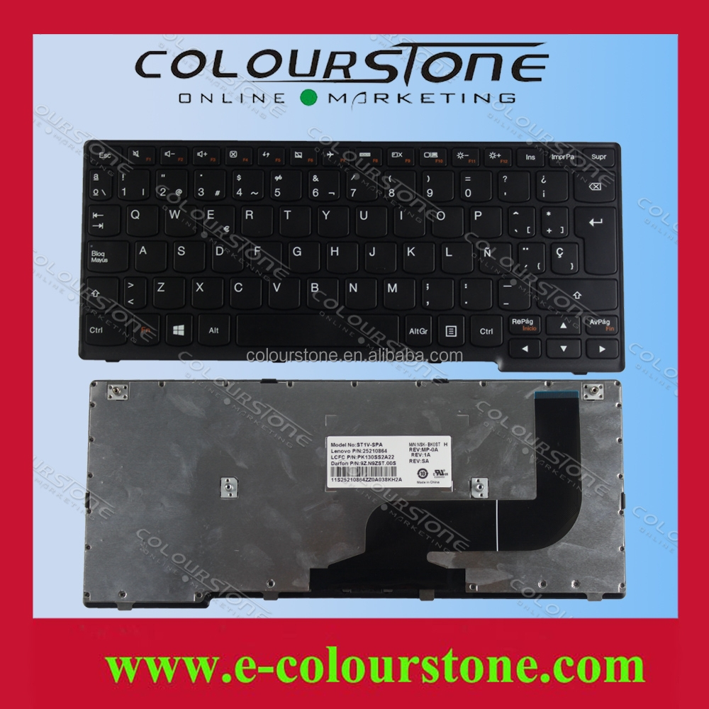 SP LAYOUT BLACK PARA NOTEBOOK FOR LENOVO YOGA 11S Yoga11S-ITH Yoga11S-IFI TECLADO BRAND NEW 25210864 PK130SS2A22 9Z.N9ZST.00