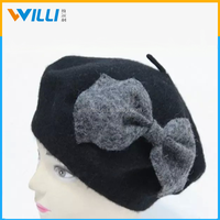 Ladies fashion winter hat with bowknot
