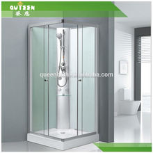 Pinghu queen-bath JR-T2650 shower enclosure with brushed nickel finish frame