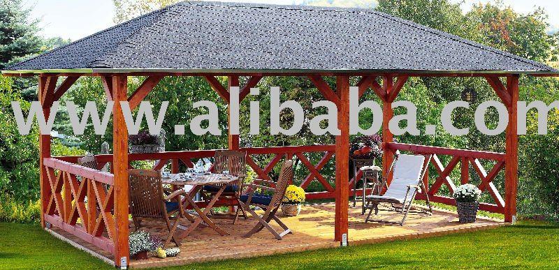 En bois gazebo belv d re id de produit 110484974 - Plan de gazebo en bois ...