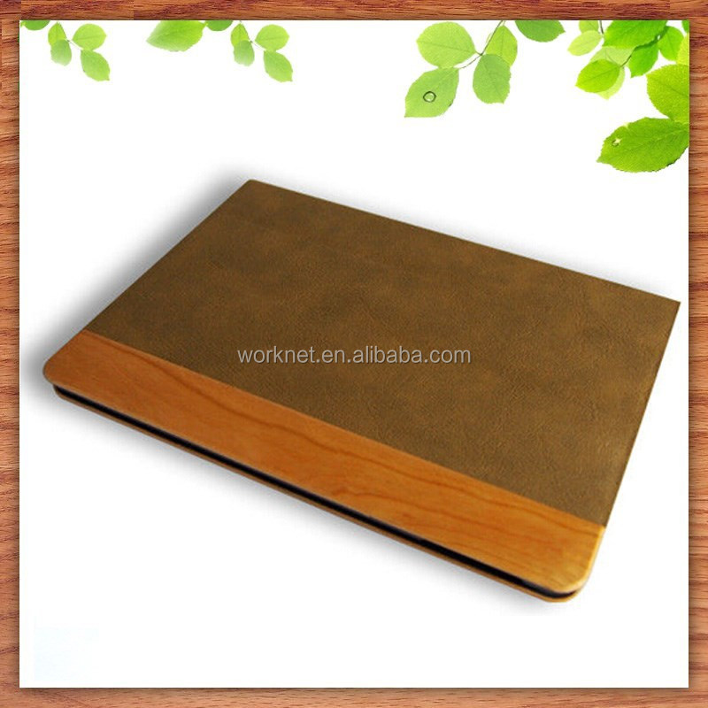cool wood tablet bag shell folio leather protective case for ipad mini 3