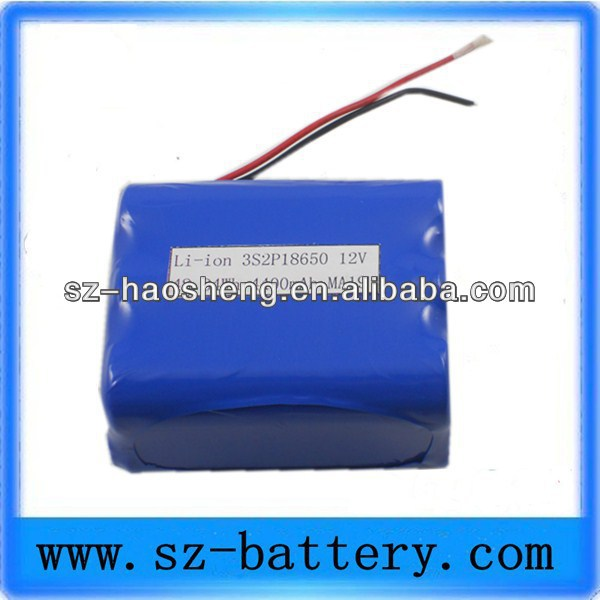 Pack battey 12V rechargeable medical device 4400mah lithium battery for tractor