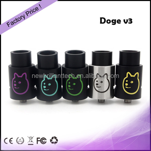 Hot New Product Atomizer 3 Posts 1:1 Clone Doge V3 2016 New Rda