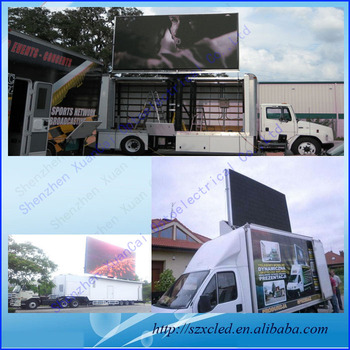 Large P10 Mobile Truck Mounted LED Screen , Bus Station Led Display Sign