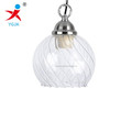 handmade borosilicate glass ball lamp pendant shade with strip inside