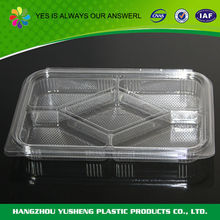 Buena calidad portable <span class=keywords><strong>biodegradable</strong></span> plastic food container <span class=keywords><strong>de</strong></span> 5 compartimentos