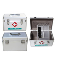 Portable Aluminum Alloy First Aid Metal Box Airplane Metal Tin Box With lock Wholesale
