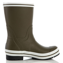Factory direct customized color designable ladies side buckle Mid-Calf rubber rain boots